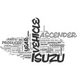 is the last year for the isuzu ascender text vector image vector image