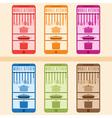kitchen utensils with smartphone set flat design vector image