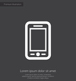 mobile phone premium icon vector image vector image