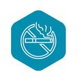 no public smoking icon outline style vector image vector image