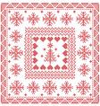 Norwegian pattern in tile vector image vector image