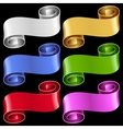 ribbon frame set vector image