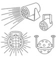 set of disco light vector image vector image