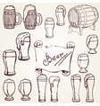 set sketches of beer vector image vector image