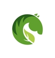 sign or logo green horse vector image vector image