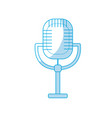 silhouette microphone to sing music in the vector image vector image