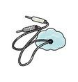 sound plug wire vector image vector image
