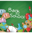 Supplies of back to school design vector image