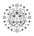 tiger chinese zodiac sign vector image