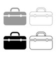tool box professional icon outline set grey black vector image vector image