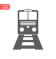 train icontrain on gray background vector image vector image