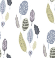 Trendy seamless pattern with forest plants vector image
