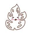 tropical leaf summer kawaii character vector image