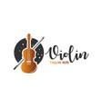 violin musical instrument logo vector image vector image