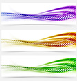 Vivid speed swoosh abstract line banner footer vector image vector image