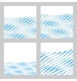 wavy halftone background set for text card vector image vector image