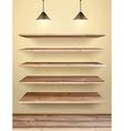 wood shelf vector image