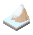 Avalanche icon in cartoon style vector image