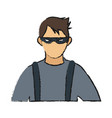 bad man with mask vector image