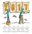 2017 Sign Men calendar vector image