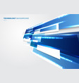 abstract 3d blue and white rectangles motion with vector image vector image