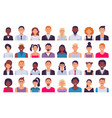 adult people avatars man in business suit vector image