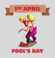 april fools day concept vector image