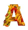 autumn stylized alphabet letter a vector image vector image