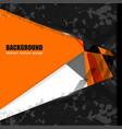 background texture geometric orange vector image vector image