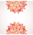 Background with watercolor red flower pattern vector image vector image