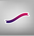 banner ribbon sign purple gradient icon vector image vector image