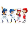 Baseball team vector image vector image