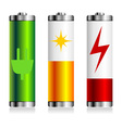 Batterie charge symbols vector image vector image