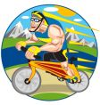 bicycle runner vector image vector image