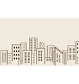 Big city many building silhouettes vector image vector image
