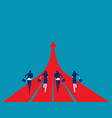 business team running to success concept business vector image
