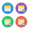 Calendar Icons Flat Set vector image vector image