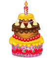 Cartoon Birthday cake vector image