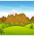 cartoon mountains landscape vector image vector image