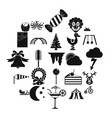courtyard icons set simple style vector image vector image