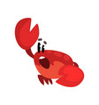 crab character shouting cute sea creature vector image vector image