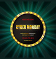 cyber monday sale sign template vector image vector image