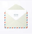 envelope with red and blue stroke vector image