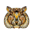 ethnic tiger vector image