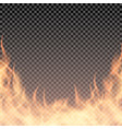 fire wall burning border template for banner vector image