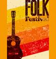folk festival poster vector image vector image