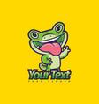 gecko mascot vector image vector image