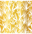 gold and white bamboo leaves seamless vector image