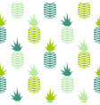 green pineapple seamless fruit pattern vector image vector image
