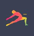 gymnast 3d model of man human body model vector image